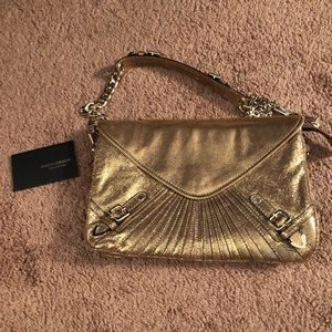 Clutch with removable shoulder strap, never worn